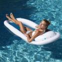 Hamac surf bouée blanc et bleu