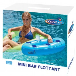 Mini-bar flottant bleu
